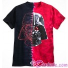 Disney Star Wars Darth Vader Tie-Dyed Adult T-Shirt (Tshirt, T shirt or Tee) © Dizdude.com