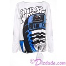 R2-D2 Bling Tie Front T-Shirt (T-Shirt, Tshirt, T shirt or Tee) Disney Star Wars: The Last Jedi © Dizdude.com
