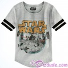 Millennium Falcon Ladies T-Shirt (Tshirt, T shirt or Tee) - Disney's Star Wars © Dizdude.com
