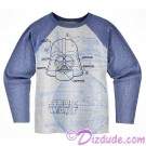 Disney Star Wars Darth Vader Youth Blueprint Raglan T-Shirt