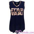 Disney SOLO A Star Wars Story Gold Shimmer Title Logo Ladies Tank Top © Dizdude.com
