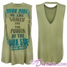 Disney Star Wars The Power Of The Dark Side Ladies Sleeveless T-Shirt (Tshirt, T shirt or Tee) © Dizdude.com