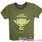 "Yoda ""Size Matters NOT"" Toddler T-Shirt (Tshirt, T shirt or Tee) - Disney's Star Wars © Dizdude.com"