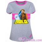 Disney SOLO A Star Wars Story Han Solo Ladies Ringer T-Shirt © Dizdude.com