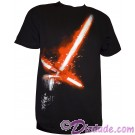 Kylo Ren Lightsaber Glow In The Dark Adult T-Shirt (Tshirt, T shirt or Tee) from Disney Star Wars: The Force Awakens © Dizdude.com