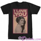 "Star Wars Princess Leia Famous Love Quote ""I Love You"" Adult T-Shirt (Tshirt, T shirt or Tee) © Dizdude.com"