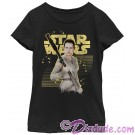 Star Wars The Force Awakens - Rey with Retro Distressed Background Junior/ Girls T-Shirt (Tshirt, T shirt or Tee) © Dizdude.com