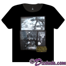 Disney Star Wars Grey Battle T-Shirt © Dizdude.com