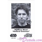 Matthew Wood the voice of General Grievous & Battle Droids Presigned Official Star Wars Weekends 2008 Celebrity Collector Photo © Dizdude.com