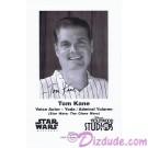 Tom Kane the voice of Yoda & Admiral Yularen Presigned Official Star Wars Weekends 2010 Celebrity Collector Photo © Dizdude.com