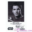 Matt Lanter the voice of Anakin Skywalker Presigned Official Star Wars Weekends 2011 Celebrity Collector Photo © Dizdude.com