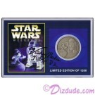 Autographed By Actor Kenny Baker Disney's Star Wars Weekends 2001 R2-D2 & Sorcerer Mickey Nickle Silver Classic Collectors Coin © Dizdude.co,