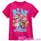 Disney's Toy Story Land Play Nice Youth Character T-Shirt (Tee, Tshirt or T shirt)