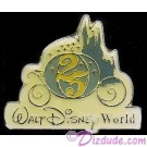 Walt Disney World 25th Anniversary Cinderella's Coach Pin © Dizdude.com