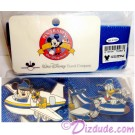 Walt Disney World Travel Company 2004 Lanyard, Card with Pilot Donald & Pilot Mickey Pins © Dizdude.com