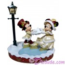 Disney Victorian Mickey and Minnie Skating Christmas Medium Big Fig by Disney Artist Costa Alavezos © Dizdude.com