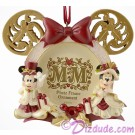 Disney Victorian Mickey Mouse And Minnie Mouse Photo Frame Christmas Ornament © Dizdude.com