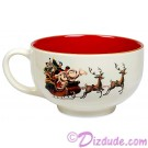 Disney Turn of the Century Mickey and Minnie Kissing Christmas Mug