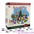 Mickey & Friends Retro Christmas - Holiday 750 Piece Jigsaw Puzzle © Dizdude.com