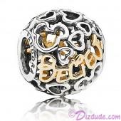 "Disney Pandora ""Believe"" 14 Karat Gold and Sterling Silver Charm"
