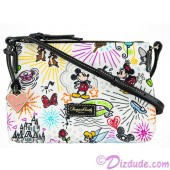 Disney World Exclusive Nylon Sketch Crossbody Pouchette ~ With Black Trim © Dizdude.com