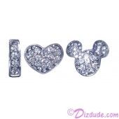 """Disney Pandora """"I Love Mickey"""" Sterling Silver Charm with Cubic Zirconias - Disney World Parks Exclusive"""