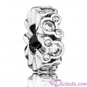 """Disney Pandora """"Mickey All Around"""" Sterling Silver Spacer Charm with Cubic Zirconias"""