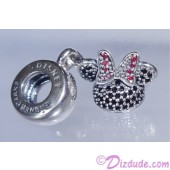 """Disney Pandora """"Minnie Sparkling Ear Hat"""" Sterling Silver Charm with Cubic Zirconias - Disney World Parks Exclusive"""