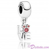 """Disney Pandora """"Love Mickey"""" Sterling Silver Charm with Red Cubic Zirconias"""