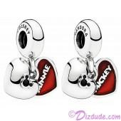 "Disney Pandora ""Mickey and Minnie"" Sterling Silver Heart Charm"
