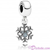 """Disney Pandora """"Frozen Mickey's Sparkling Snowflake"""" Sterling Silver Charm with Cubic Zirconias"""