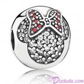 "Disney Pandora ""Minnie Pavé Clip"" Sterling Silver Charm with Cubic Zirconias"