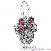 "Disney Pandora ""Sparkling Minnie Icon"" Sterling Silver Charm with Cubic Zirconias"