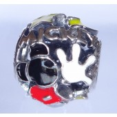 "Disney Pandora ""Mickey Mania"" Sterling Silver Charm - Disney World Parks Exclusive"