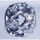 "Disney Pandora ""Mickey & Minnie Infinity"" Sterling Silver Charm with Cubic Zirconias"