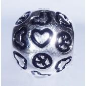 "Disney Pandora ""Peace, Love & Mickey"" Sterling Silver Charm - Disney World Parks Exclusive"