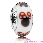 "Disney Pandora ""Classic Minnie"" Sterling Silver Charm with Murano Glass"