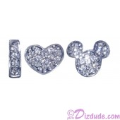 "Disney Pandora ""I Love Mickey"" Sterling Silver Charm with Cubic Zirconias - Disney World Parks Exclusive"