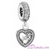 Disney Pandora Center of My Heart Dangle Charm with Cubic Zirconias - Mothers Day Collection 2015