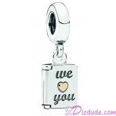 Disney Pandora Mothers Day Card Sterling Silver Charm with 14K Gold - Mothers Day Collection 2015