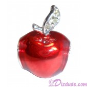 "Disney Pandora ""Snow White's Apple"" Sterling Silver Charm set with 3 Green Cubic Zirconias"