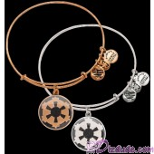 Galactic Empire Antiqued Rafaelian Gold or Silver Finished Star Wars Adjustable Charm Bangle - by Alex & Ani