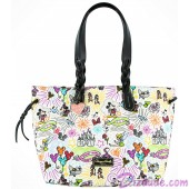 Disney World Exclusive Nylon Sketch Large Tote ~ With Black Trim © Dizdude.com