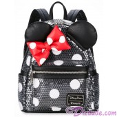 Minnie Mouse Polka Dot Sequined Mini Backpack by Loungefly - Disney Parks © Dizdude.com