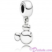 "Disney Pandora ""Solid Mickey Icon"" Sterling Silver Charm - Engraveable"