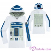 R2-D2 Long Sleeved Ladies Hoodie - Disney's Star Wars © Dizdude.com