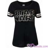 Disney Star Wars Foil Logo Lounge Adult T-shirt (Tee, Tshirt or T shirt) © Dizdude.com
