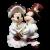 Disney Mickey & Minnie Christmas Caroling Ceramic  Figurine