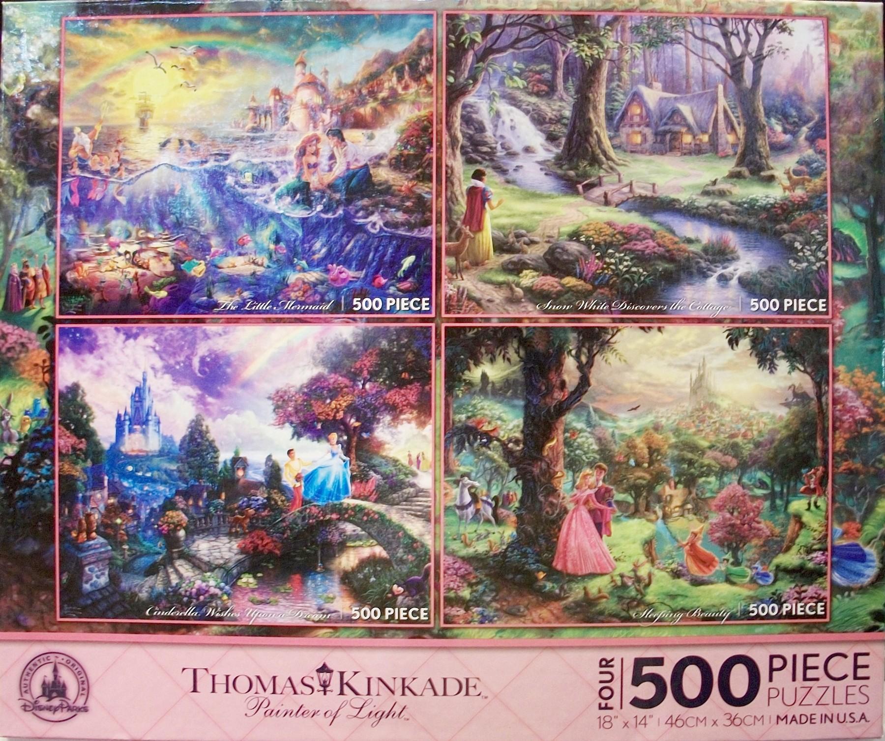 2013 Fall Disney World Four 500 Piece Jigsaw Puzzles