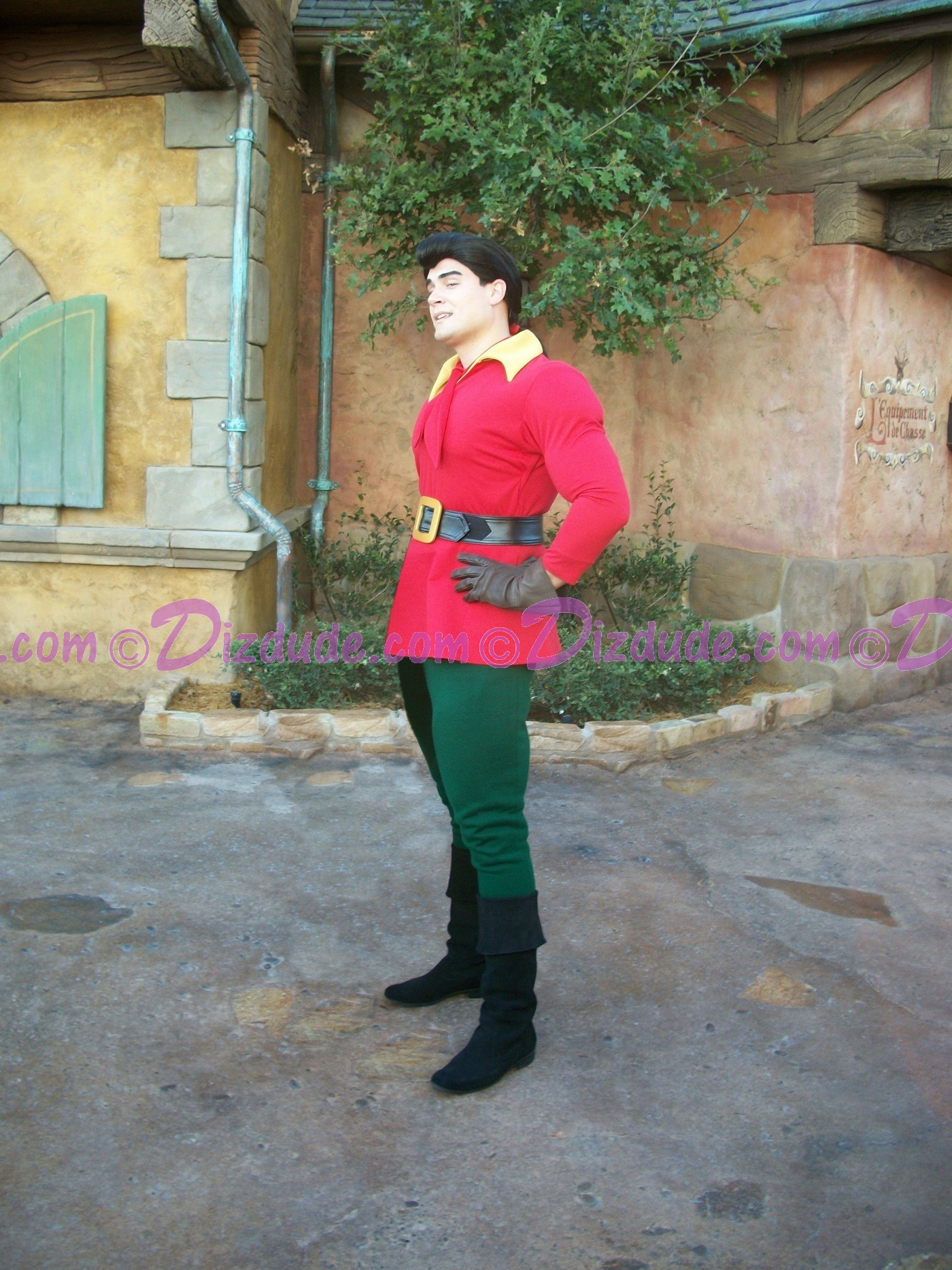 Gaston Outside his Tavern- Disney Magic Kingdom